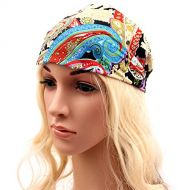 Academyus Women Yoga Sport Headband Stretch Hairband Elastic Hair Band Turban Headwear