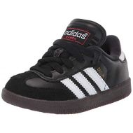 Adidas adidas Samba Classic Leather Soccer Shoe (ToddlerLittle KidBig Kid),BlackWhite,11.5 M US Little Kid