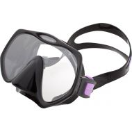 Atomic Aquatics Scuba Diving Frameless Mask, All Black, Medium Fit