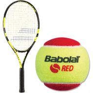 Babolat Nadal Junior YellowBlack Tennis Racquet bundled with Childrens Play and Stay Tennis Balls