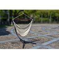 BenefitUSA Hanging Caribbean Polyester Hammock Chair 48 Inch (Off White)