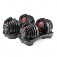 Bowflex SelectTech 552 Adjustable Dumbbells Syncs with Free SelectTech App & Space Saving (Pairs)