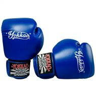 YOKKAO Blue Boxing Gloves Muay Thai Boxing MMA Kickboxing Training Boxing Equipment Gear Martial Art -12 oz