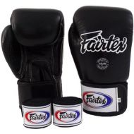 Fairtex Muay Thai Boxing Gloves BGV1 Solid Black Size : 10 12 14 16 oz Gloves & Handwraps Training & Sparring All Purpose Gloves for Kick Boxing MMA K1 Tight Fit Design