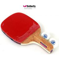 Butterfly Pan Asia S10 Butterfly PAN ASIA P10 Table Tennis Racket Penholder Paddle Racket & Ball 2 (pcs)