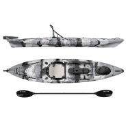 Campingandkayaking Vibe Kayaks Sea Ghost 130 13 Foot Angler Sit On Top Fishing Kayak with Adjustable Hero Comfort Seat and Transducer Port and Rod Holders and Storage and Rudder System Included