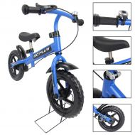 Costway Goplus 12 Blue Kids Balance Bike Children Boys & Girls with Brakes and Bell Exercise