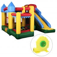 Costway Mighty Inflatable Bounce House Castle Jumper Moonwalk Bouncer w680W Blower New