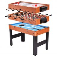 Costway 48 3-In-1 Multi Combo Game Table Foosball Soccer Billiards Pool Hockey For Kids