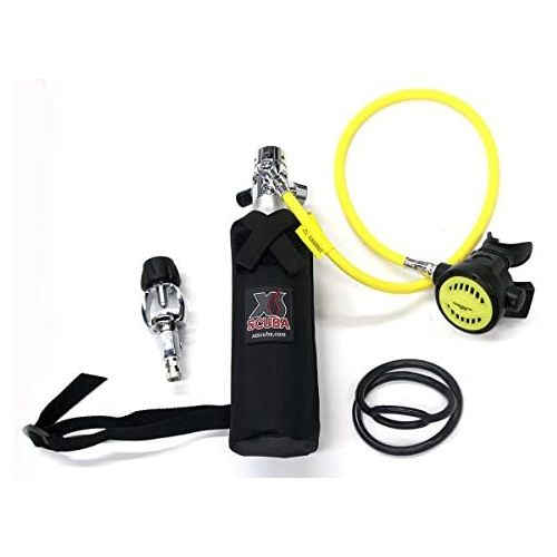 DXDiver DXDIVER Bailout Pony Bottle Diving Kit with Hose 6 cf Tank Gauge Regulator Spare Secondary Air Scuba Dive Egressor