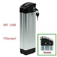 NBPower 36v 13ah lithium electric bicycle power battery silver fish e-city city bike folding bike battery