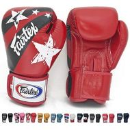 Fairtex Gloves Muay Thai Boxing Sparring BGV1 Size 8, 10, 12, 14, 16 oz in Black, Blue, Red, White, Pink, Classic Brown, Emerald Green, Thai Pride, US, Nation and more (Nation Red,