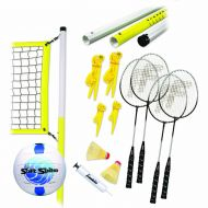 Franklin Sports Advanced Volleyball and Badminton Set