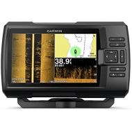 Garmin Striker 7sv with Transducer, 7 GPS Fishfinder with Chirp Traditional, ClearVu and SideVu Scanning Sonar Transducer and Built in Quickdraw Contours Mapping Software