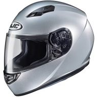 HJC Helmets CS-R3 Unisex-Adult Full Face Metallic Motorcycle Helmet (CR Silver, Small)