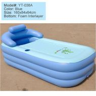 [직배송][추가금없음]Inflatable Pool adult children keep warm Bathtub Portable bath tub folding family Bathtub 160x84x64CM
