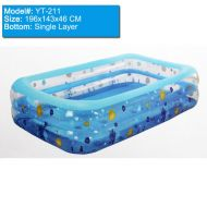 [직배송][추가금없음]Inflatable Swimming Poo large Size Family Pool 196x143x60cm Intime