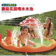 [직배송][추가금없음]Bestway Inflatable Mushroom garden fountain Paddling PoolKid game mobile swimming poolOutdoor household folding bath PoolBaby pool
