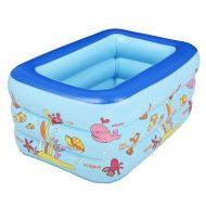[직배송][추가금없음]Inflatable Pool Rectangle 3layer cartoon children splashing sand tub Portable baby swimming pool kid bathtub 160x120x60cm