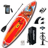 [직배송][추가금없음]Funwater FunWater 350*82*15cm Inflatable Paddle Board Sup W' Paddle,Bag,Leash,Pump,Phone Bag