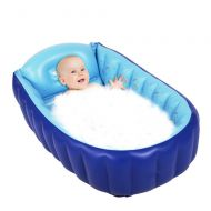 Baby Inflatable Bathtub - Cartoon Inflating Bath Tub for Toddlers Kids Portable Swimming Pool...