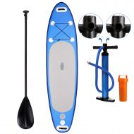 Inflatable SUP Stand Up Paddleboard 6 Thick with Adjustable Paddle, Travel Backpack, Dual Action Pump (Blue)