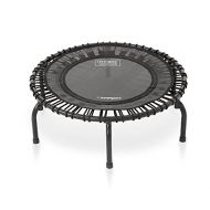 JumpSport 220 | Fitness Trampoline, In-Home Mini Rebounder | Total Body Exercise | Quiet & Safe Bounce | Long Lasting Premium Bungees | Top Rated for Quality & Durability | Music W