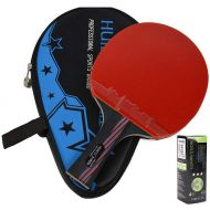 LANFIRE(huieson) Carbon Fiber Table Tennis Racket Blade Double Face Pimples-in Racket Rubber Table Tennis Bat