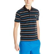 Lacoste Mens Sport Short Sleeve Cotton Super Light Stripe Polo Shirt
