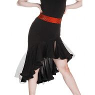 SIQIAN AdultChild Latin Rumba Chacha Jive Samba Party Dance Evening Modern Skirt Two Colors(No Belt Include)