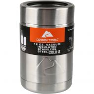 Ozark Trail 12-ounce Vacuum Insulated Stainless Steel Can Cooler with Metal Gasket (4)