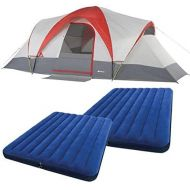 Ozark Trail Weatherbuster 9 Person Dome Tent with Two Queen Airbeds Bundle