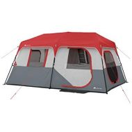 Ozark Trail Instant Cabin Tent with Built in Cabin Lights, Sleeps 10, 14 x 10 x 78, Easy Set Up, Includes Rain Fly, Fits 2 Queen Air Mattresses!