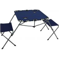 Ozark Trail 2-In-1 Table Set with Two Seats and Two Cup Holders