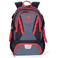Ozark Trail 35L Choteau Heavy-duty Ripstop Material, Hydration-compatible, Multiple Storage Compartment, Daypack Backpack with 2 Water Bottle Pockets, Black/Red