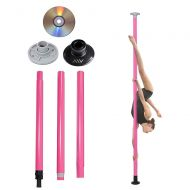 AW Portable Dance Pole Full Kit Package Exercise Club Party Weight Loss Fitness 50mm wBag Pink