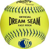 Rawlings USSSA 12 Dream Seam High Density Core Leather Softballs, 12 Pack