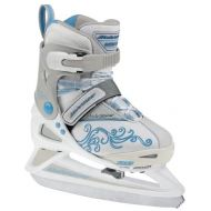 Bladerunner Rollerblade Girls Adjustable Phaser 4 Size Ice Skate (WhiteLight Blue, US 11j to 1)