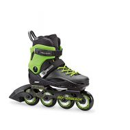 Rollerblade Cyclone Kids Unisex Size Adjustable Inline Skate, Black and Acid Green, High Performance Inline Skates