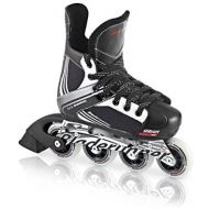 [아마존베스트]Rollerblade Bladerunner Dynamo Jr Size Adjustable Hockey Inline Skate, Black and Red, Inline Skates