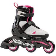[아마존베스트]Rollerblade Microblade Free 3WD Kids Size Adjustable Inline Skate, Grey and Candy Pink