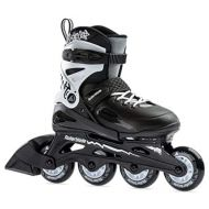 [아마존베스트]Rollerblade Fury Boys Adjustable Fitness Inline Skate,Black and White, Junior, Youth Performance Inline Skates