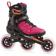 [아마존베스트]Rollerblade Macroblade 110 3WD Womens Adult Fitness Inline Skate, Raspberry and Mango, Performance Inline Skates
