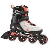 [아마존베스트]Rollerblade Macroblade 80 Womens Adult Fitness Inline Skate, Grey and Coral, Performance Inline Skates