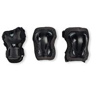 [아마존베스트]Rollerblade Skategear Junior 3 Pack Protective Gear, Knee Pads, Elbow Pads and Wrist Guards, Multi Sport Protection,Youth, Black