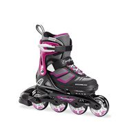 Rollerblade Spitfire XT Girls Adjustable Fitness Inline Skate, Black and Purple, Junior, Youth Performance Inline Skates