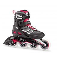 Rollerblade Macroblade 90 Alu Womens Adult Fitness Inline Skate, Black and Cherry, High Performance Inline Skates
