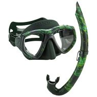SEAC Seac One Camouflage Spearfishing Freediving Mask Snorkel Set