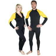 Storm Accessories Storm Yellow and Black Lycra Dive Skin for Scuba Diving, Snorkeling and Water Sports