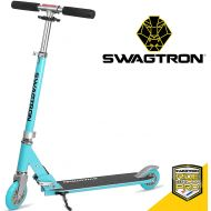 "Swagtron K1 Girl or Boy Kick Scooter 2 Wheel Adjustable 40"" Kids up to 72"" Teens, 220Lb Weight Limit, ABEC-9 Bearings, Lightweight 6.42Lbs, Next Gen Fold-n-Lock System + Kickstand"